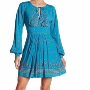 FREE PEOPLE Coryn mini green combo dress/NWT/2